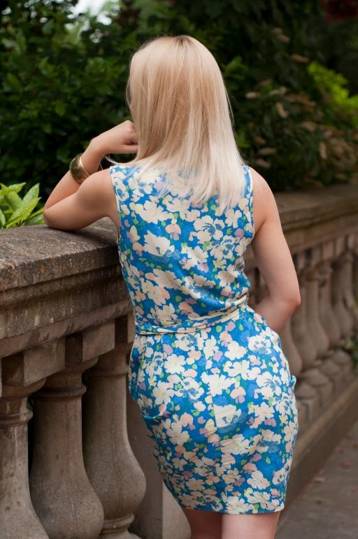 Floral Wrap Dress6