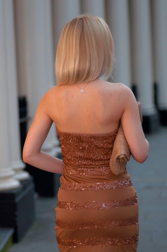nude sequin dress
