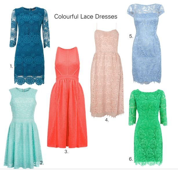 Colourful Lace Dresses