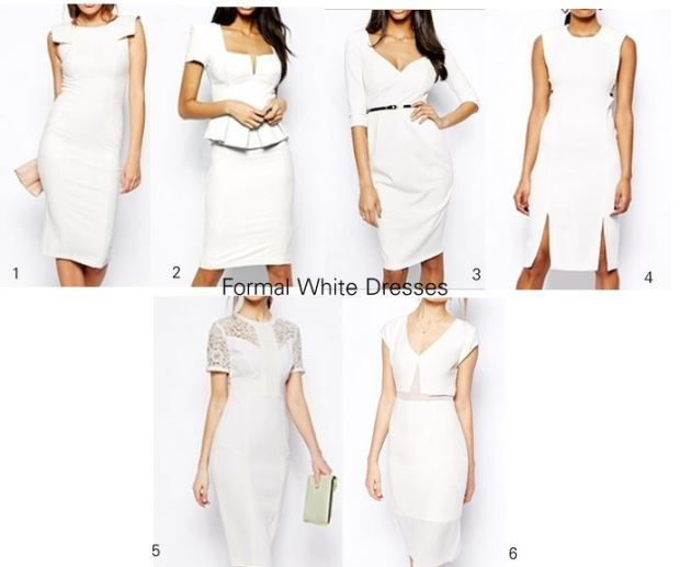 formal white dresses