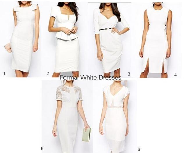 formal white dresses