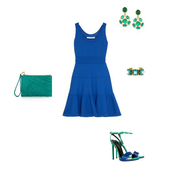 blue & green