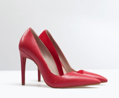 red shoes zara