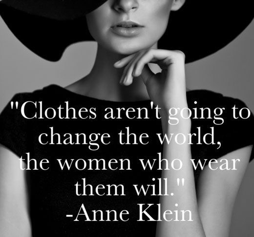 clothers aren't going to change the world