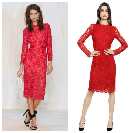 red lace dresses2